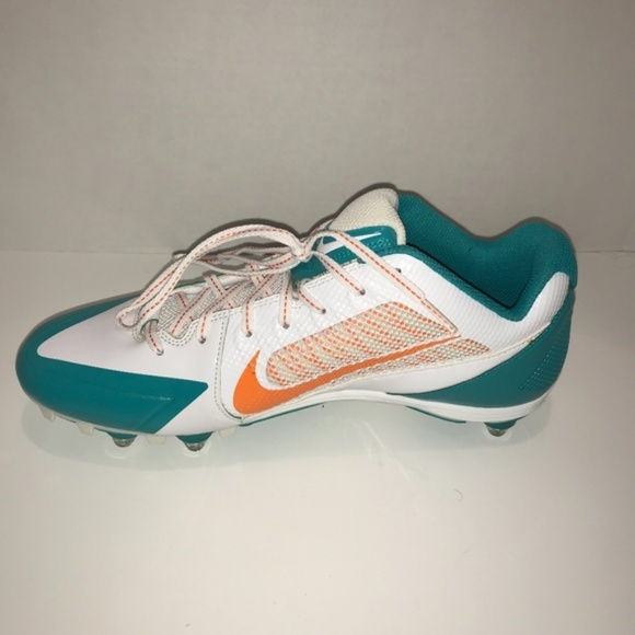MIAMI DOLPHINS NIKE MEN'S ALPHA PRO FLYWIRE CLEATS